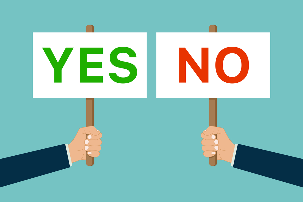 change yes or no