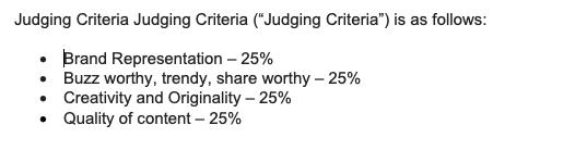 Sample Judging Criteria